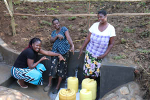 The Water Project: Emutetemo Community, Lubale Spring -  Happy Faces At Lubale Spring