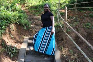 The Water Project: Emutetemo Community, Lubale Spring -  Selpher Keya Shiundu