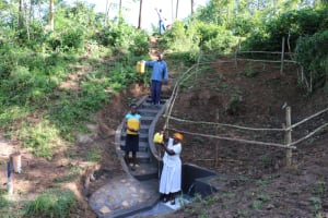 The Water Project: Emutetemo Community, Lubale Spring -  Celebrating The Completed Spring