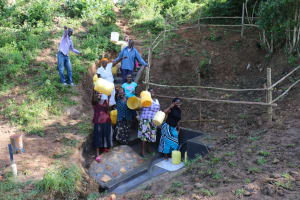 The Water Project: Emutetemo Community, Lubale Spring -  Community Celebrates At The Spring