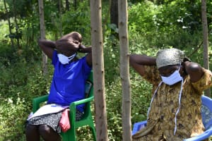 The Water Project: Emutetemo Community, Lubale Spring -  Putting On New Masks