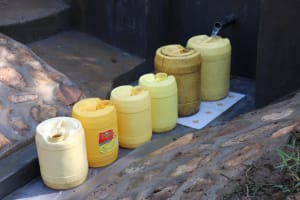 The Water Project: Emutetemo Community, Lubale Spring -  Water Flows Freely For All