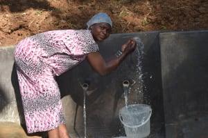 The Water Project: Mushikulu B Community, Olando Spring -  Fatuma Splashing Water