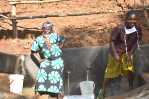 The Water Project: Mushikulu B Community, Olando Spring -  Posing At The Water Point