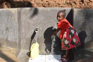 The Water Project: Mushikulu B Community, Olando Spring -  Rahma Enjoying Water
