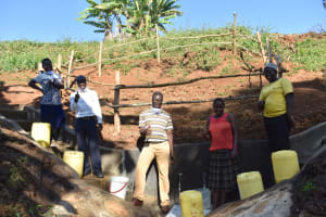 The Water Project: Mushikulu B Community, Olando Spring -  Thumbs Up At The Spring
