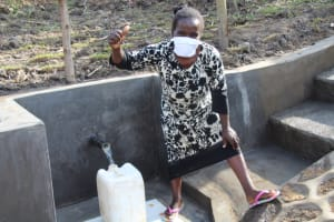 The Water Project: Mabanga Community, Ashuma Spring -  Cheers To Clean Water