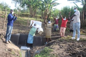 The Water Project: Mabanga Community, Ashuma Spring -  Happy And Excited Community Members