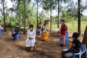 The Water Project: Mabanga Community, Ashuma Spring -  Participant Asking A Question
