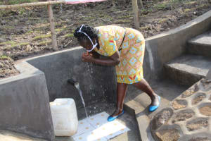 The Water Project: Mabanga Community, Ashuma Spring -  Quenching Thirst