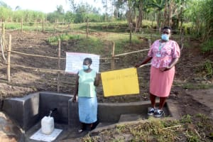 The Water Project: Mabanga Community, Ashuma Spring -  Spring Number One Complete