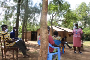 The Water Project: Mabanga Community, Ashuma Spring -  Trainer Emma In Action