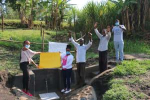 The Water Project: Mabanga Community, Ashuma Spring -  Celebrating Completed Spring