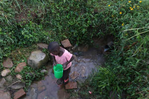 The Water Project: Khunyiri Community, Edward Spring -  A Child Collecting Water