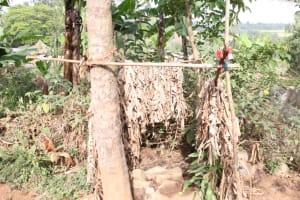 The Water Project: Khunyiri Community, Edward Spring -  Bathing Shelter