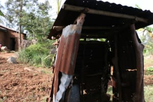 The Water Project: Khunyiri Community, Edward Spring -  Latrine