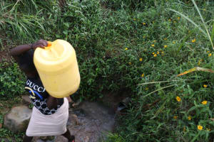 The Water Project: Khunyiri Community, Edward Spring -  Leaving The Spring