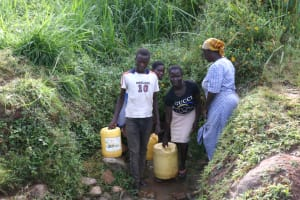 The Water Project: Khunyiri Community, Edward Spring -  People At The Spring