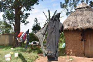 The Water Project: Emuyere Community, Kaikai Spring -  Clothesline