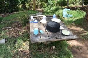 The Water Project: Emuyere Community, Kaikai Spring -  Dishrack