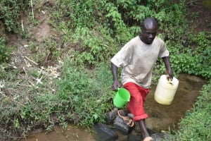 The Water Project: Emuyere Community, Kaikai Spring -  Leaving The Spring