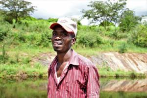 The Water Project: Mathanguni Community A -  Benson Muteti