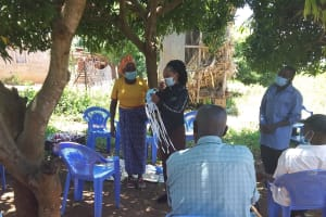 The Water Project: Mathanguni Community A -  Covid Prevention Training