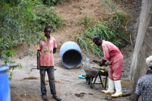 The Water Project: Mathanguni Community A -  Loading Up Cement