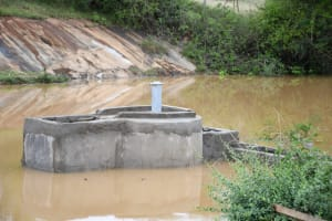 The Water Project: Mathanguni Community A -  Completed Well Awaits Pump Installation