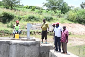 The Water Project: Mathanguni Community A -  Fetching Water At The Well