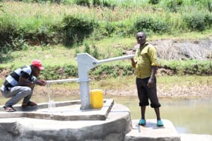 The Water Project: Mathanguni Community A -  Pumping The New Well