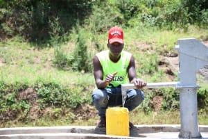 The Water Project: Mathanguni Community A -  Water From The Well