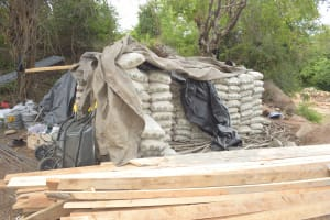 The Water Project: Thona Community A -  Construction Materials