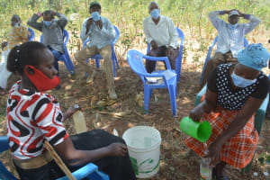The Water Project: Thona Community A -  Soap Making