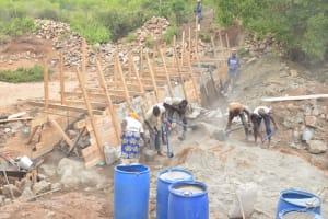 The Water Project: Thona Community -  Scaffolding Dam Walls
