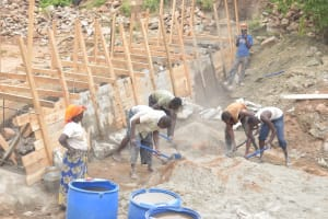 The Water Project: Thona Community -  Working On Dam