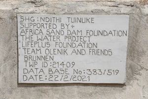The Water Project: Thona Community A -  Well Plaque