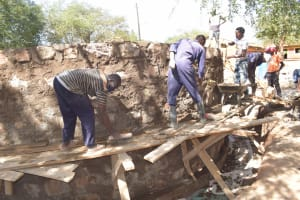 The Water Project: Kalatine Primary School -  Artisans Work On The Tank
