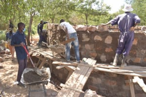 The Water Project: Kalatine Primary School -  Building Up The Walls