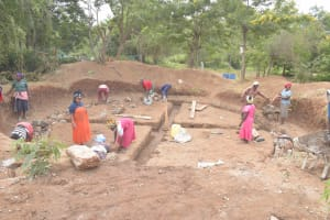 The Water Project: Kalatine Primary School -  Excavating Tank Site