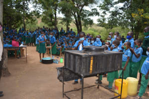 The Water Project: Kalatine Primary School -  Handwashing And Soap Mixing