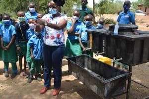 The Water Project: Kalatine Primary School -  Handwashing Demonstration