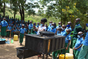 The Water Project: Kalatine Primary School -  Handwashing Demonstration At The Training