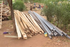 The Water Project: Kalatine Primary School -  Lumber And Pipes For Tank