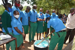 The Water Project: Kalatine Primary School -  Mixing Soap