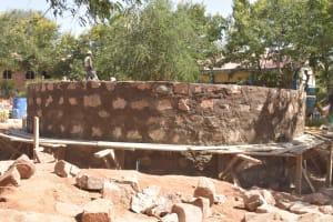 The Water Project: Kalatine Primary School -  Tank Walls Under Progress