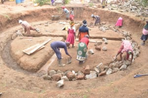 The Water Project: Kalatine Primary School -  Working On Foundation