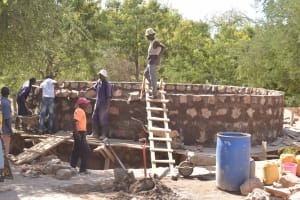 The Water Project: Kalatine Primary School -  Working On The Tank Walls