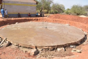 The Water Project: Mang'uu Primary School -  Foundation Cement Drying