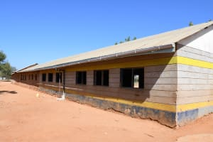 The Water Project: Mang'uu Primary School -  Gutters On Classroom For Rain Tank